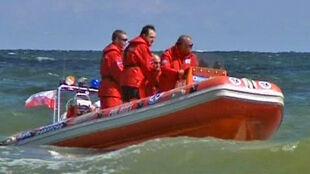 Słoneczny patrol na Bałtyku. W motorówce