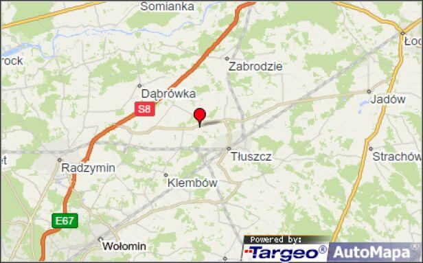 Śmiertelny wypadek w powiecie wołomińskim  Mapy Targeo