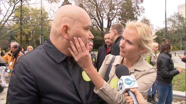 Tomasz Kalita z żoną TVN24