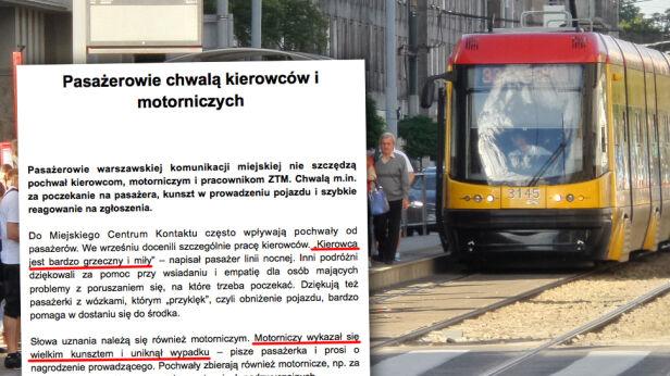 ZTM tonie w pochwałach tvnwarszawa.pl