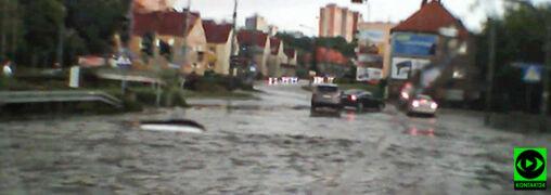 Ulewa przeszła nad Gorzowem Wielkopolskim. Zalane ulice i posesje