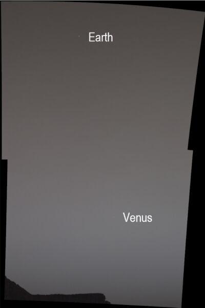 Panorama stworzona z dwóch zdjęć wykonanych przez Curiosity (NASA/JPL-Caltech/MSSS/SSI)