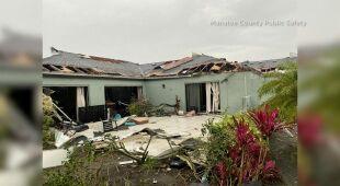 Zniszczenia po wichurze na Florydzie