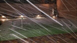 """Sypnęło śniegiem w Las Vegas. """"Musiałam nawet rzucić kilka śnieżek"""""""