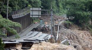 Powodzie w Japonii (PAP/EPA/JIJI PRESS)