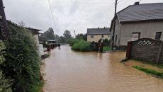 Lokalne podtopienia w okolicy Nysy (Bart Kaczmarek/Kontakt 24)